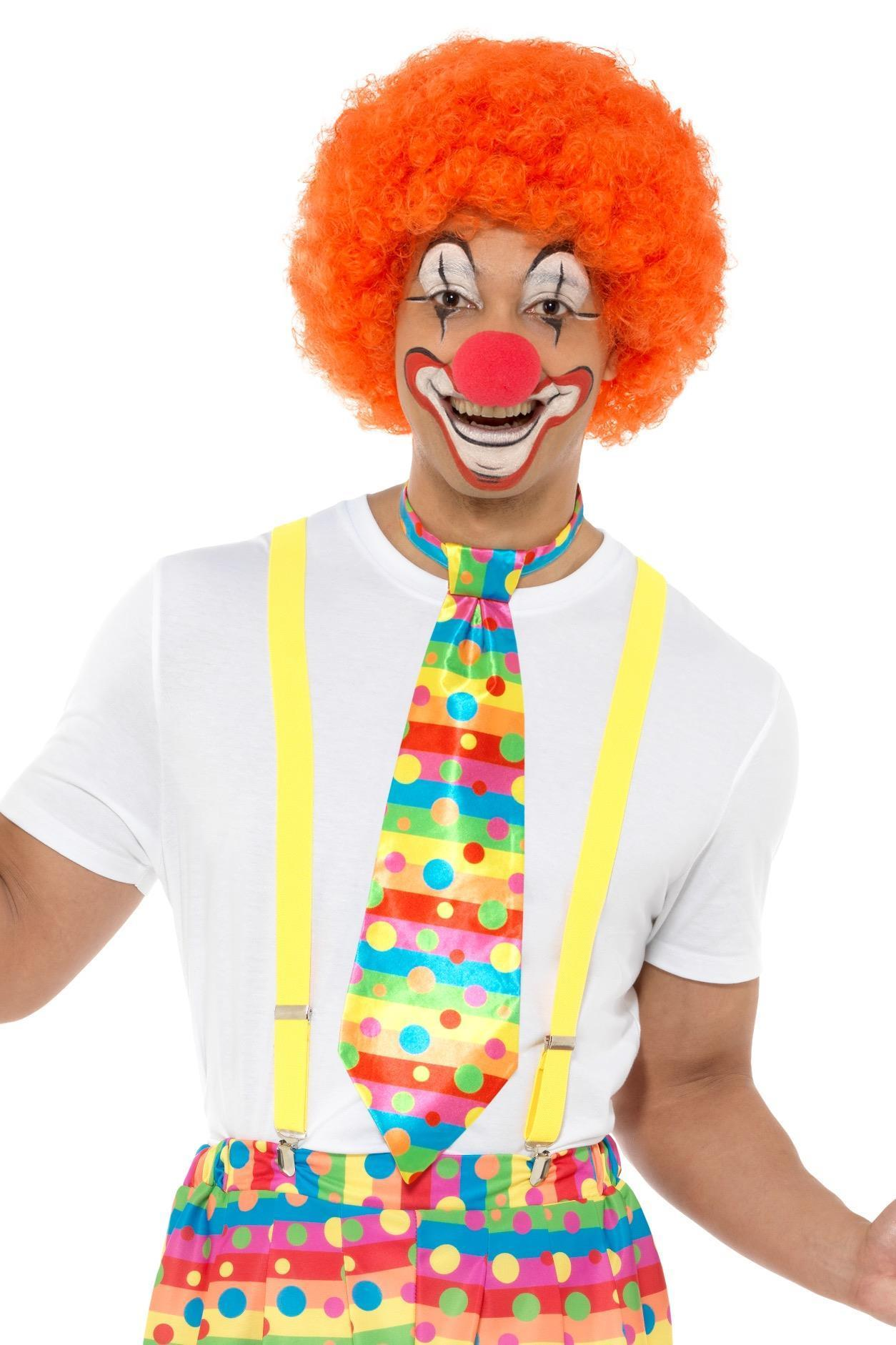 Big Top Clown Tie Neon