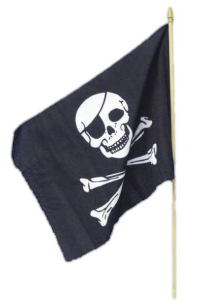 Pirate Waving Flag