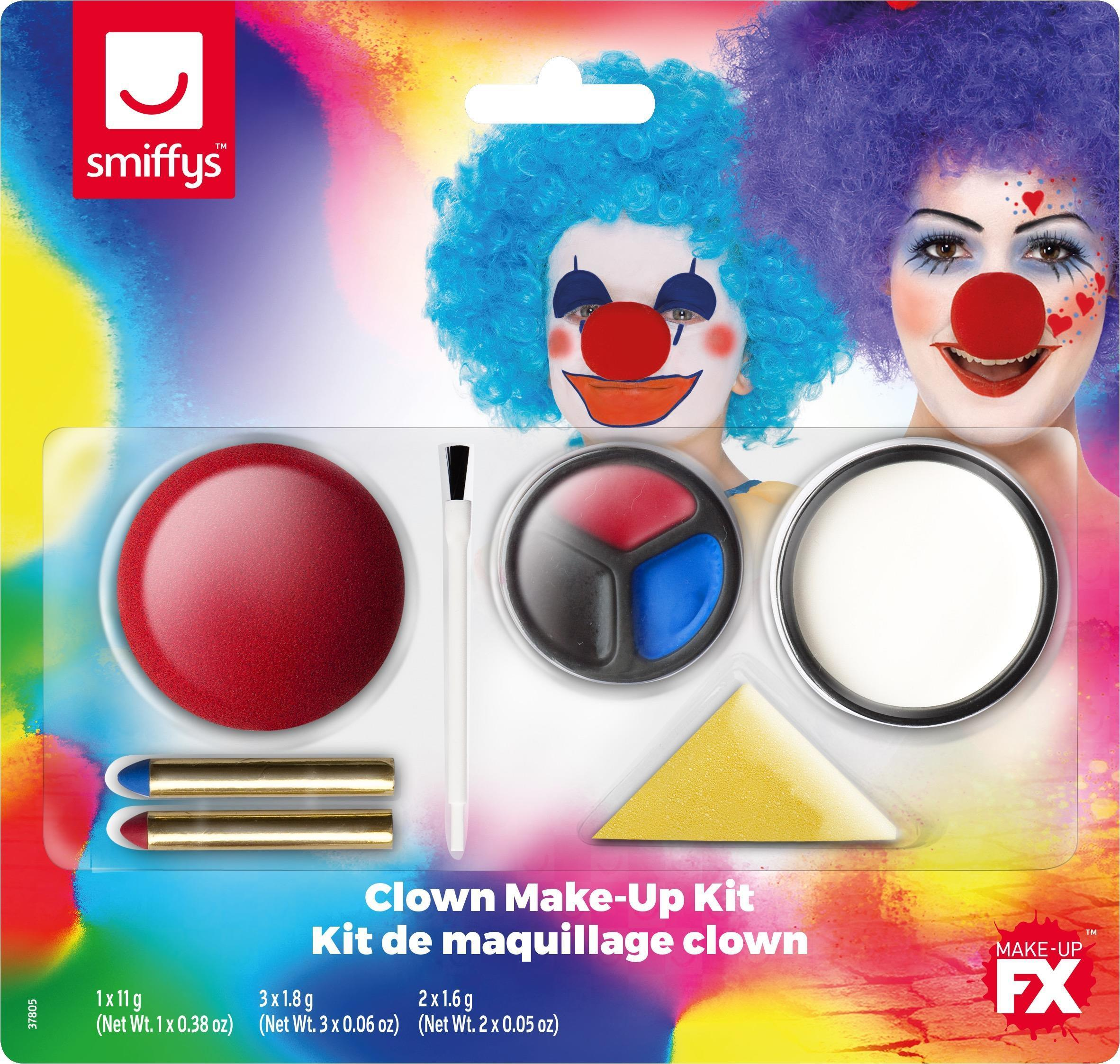 Smiffys Face Paint Kit Clown