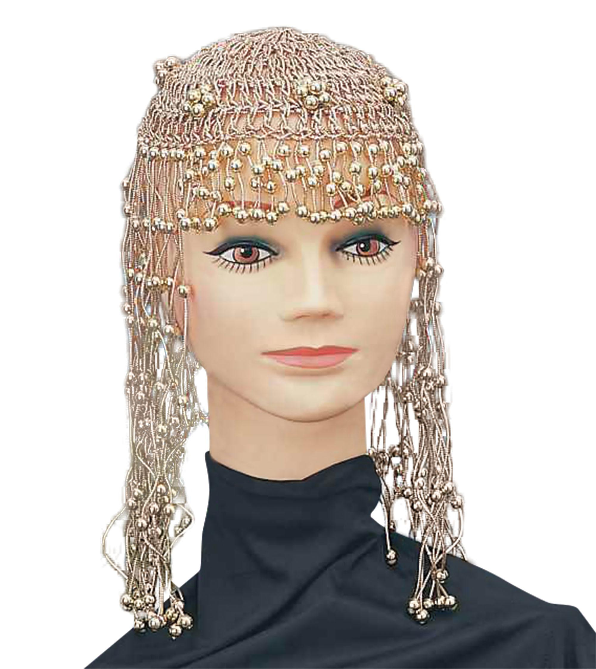 Cleopatra Beaded Headdress Gold