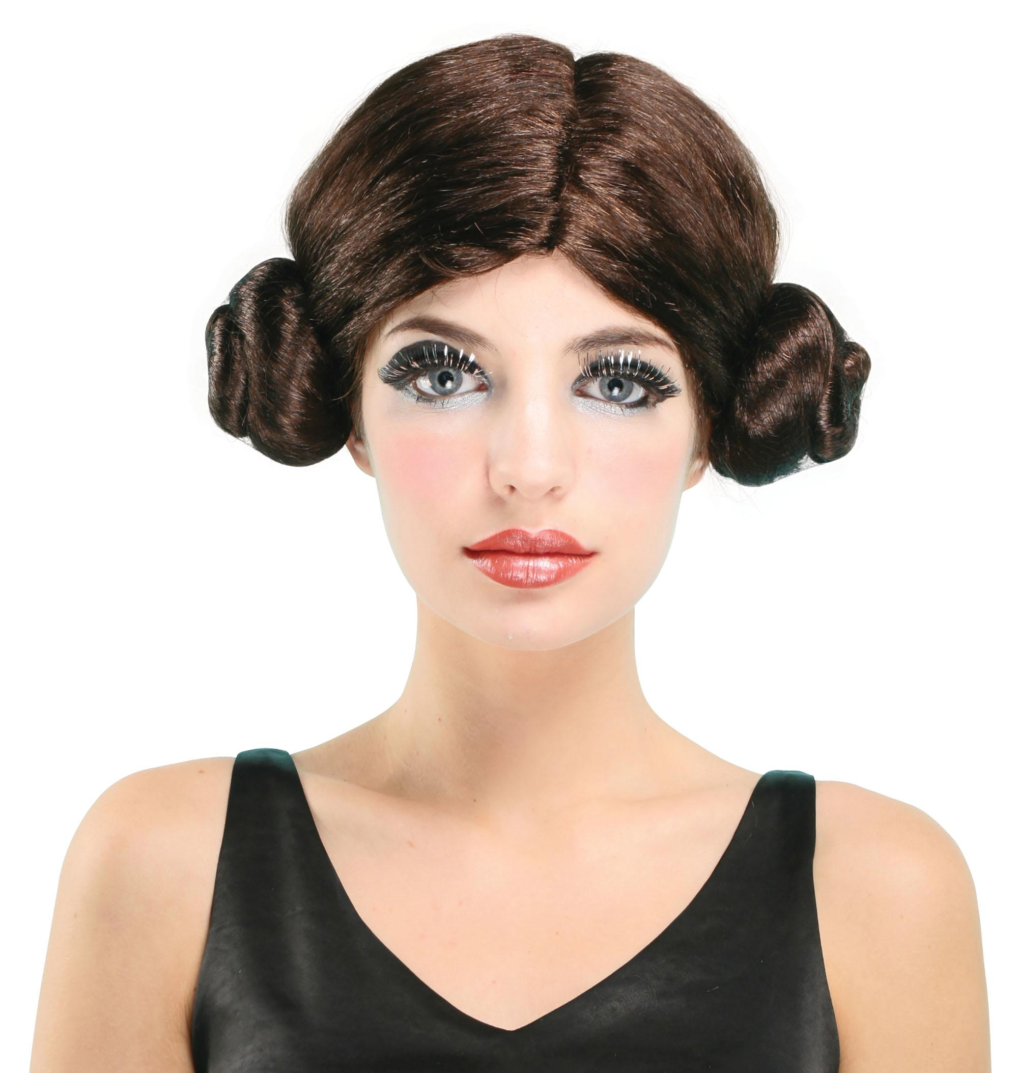 Space Princess Wig Brown