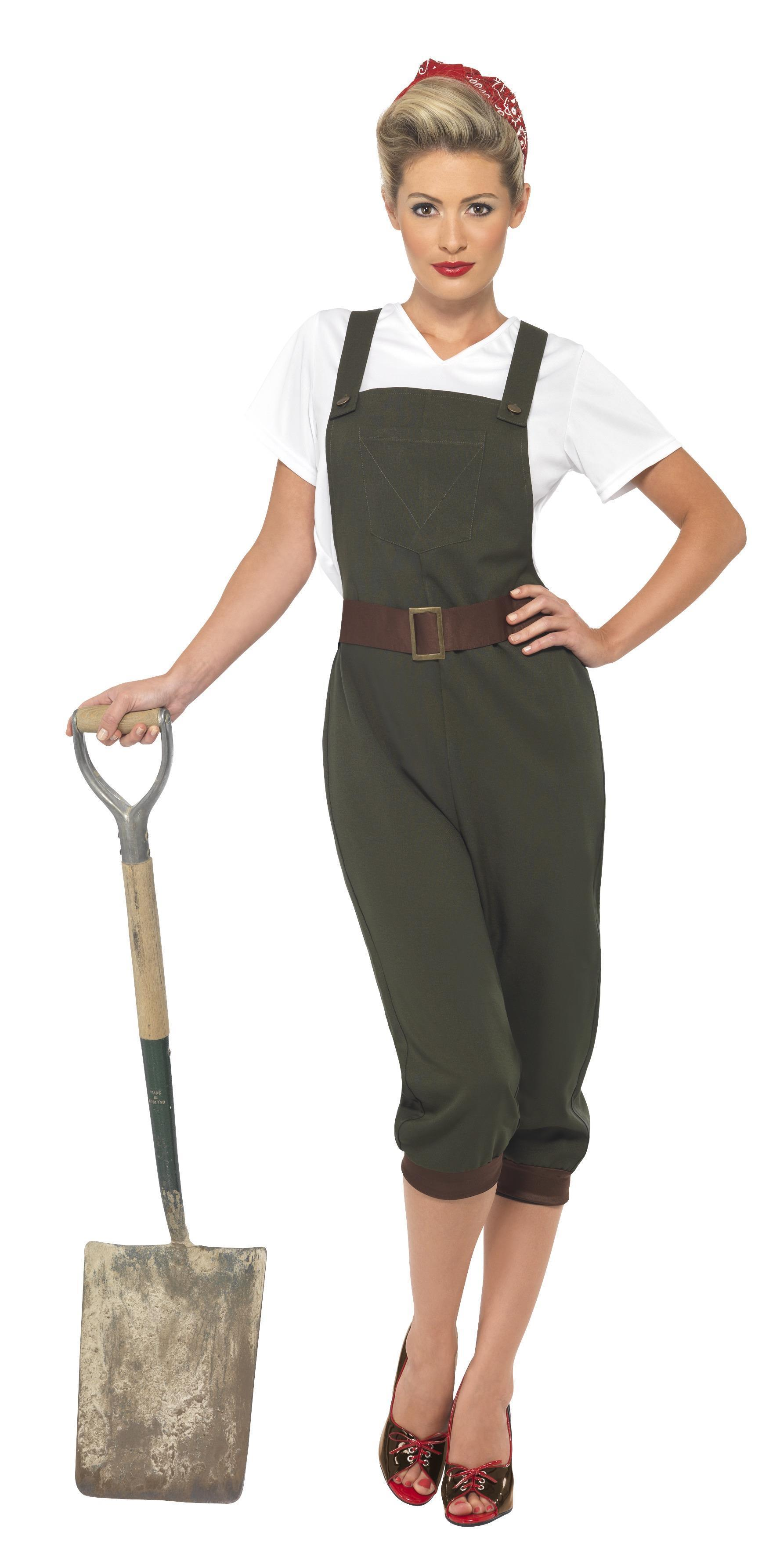 WW2 Land Girl Costume Green