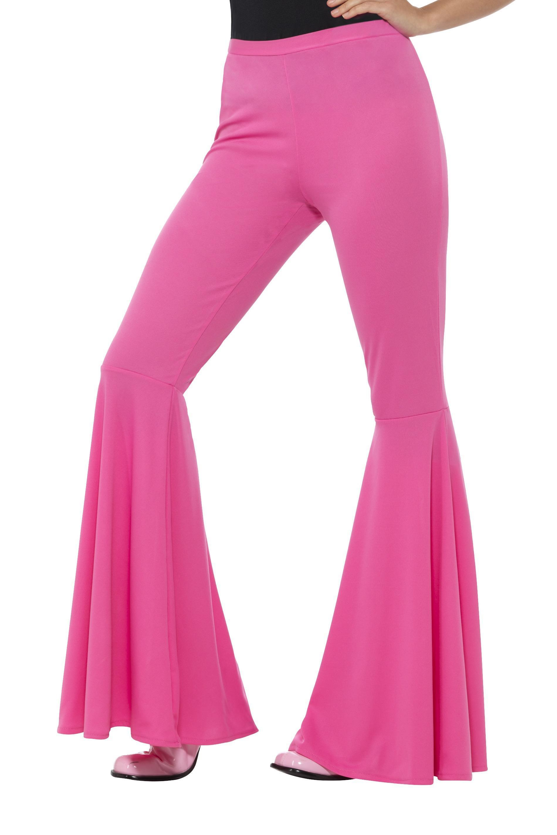 Ladies Flared Trousers Pink