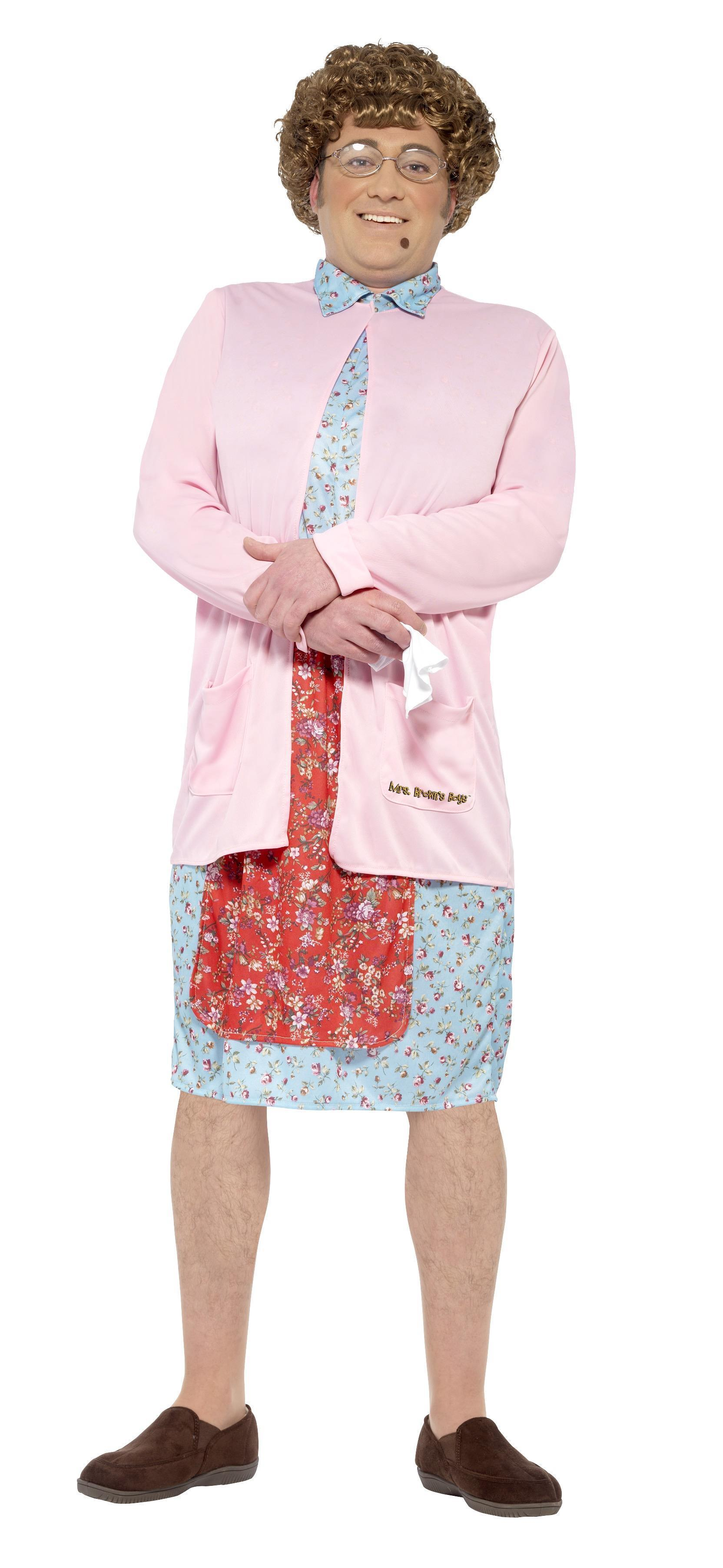 Mrs Brown Costume inc Wig