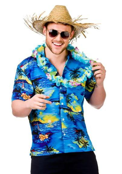 Hawaiian Shirt Blue Palm Trees