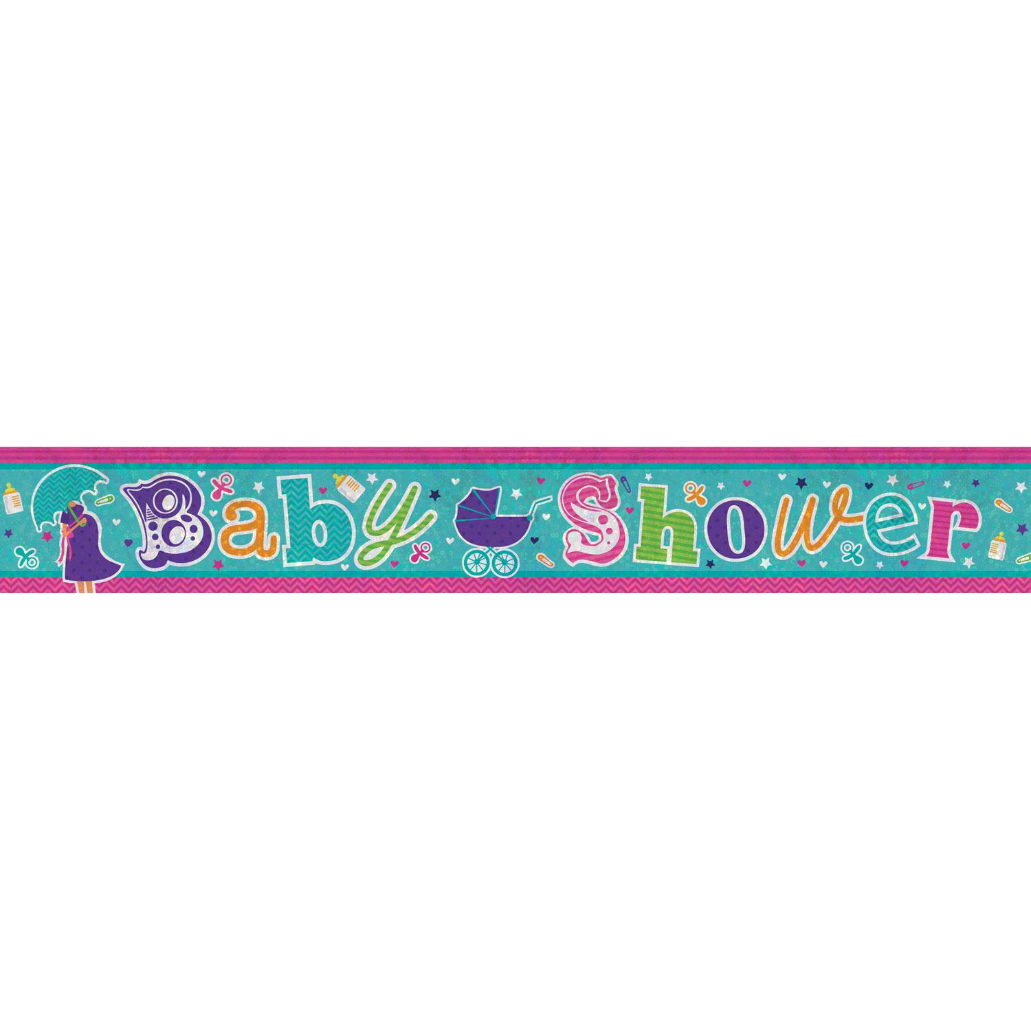 Holographic Banner Baby Shower