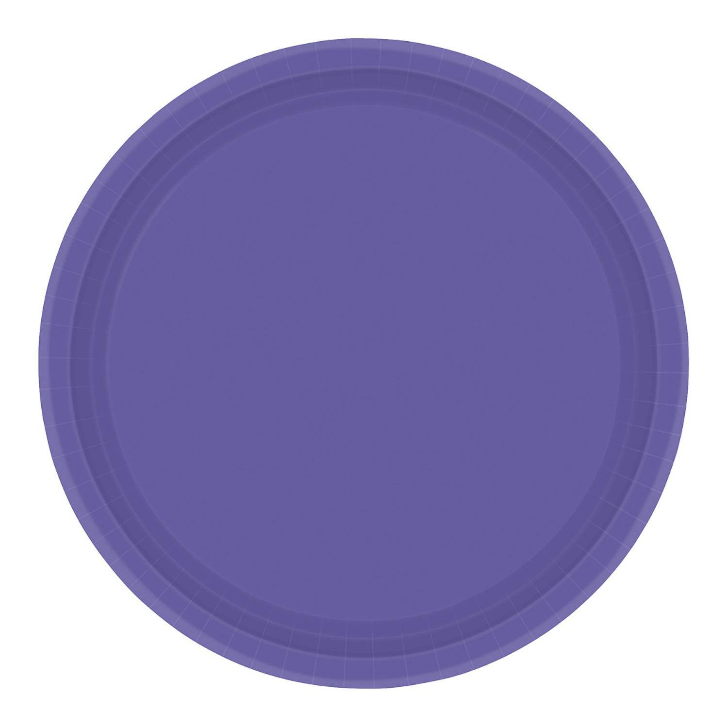 Paper Plates New Purple 8 Pack