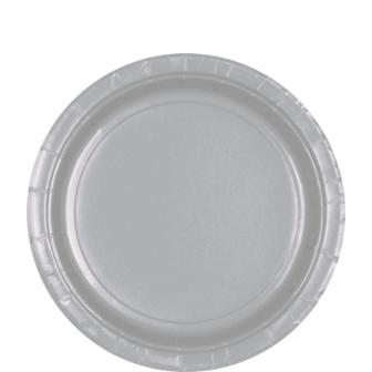 Paper Plates Silver 8 Pack