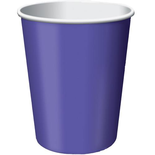 Paper Cups New Purple 8 Pack