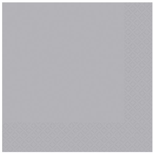 Paper Napkins Silver 20 Pack