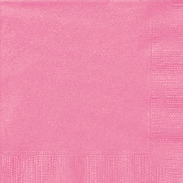 Paper Napkins New Pink 20 Pack