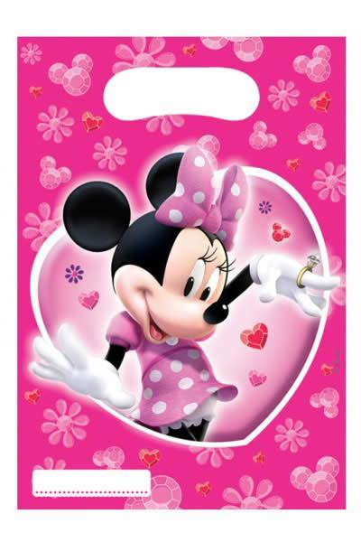 Plastic Party Loot Bags Minnie Mouse
