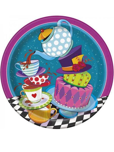 Paper Plates Mad Hatter Tea Party