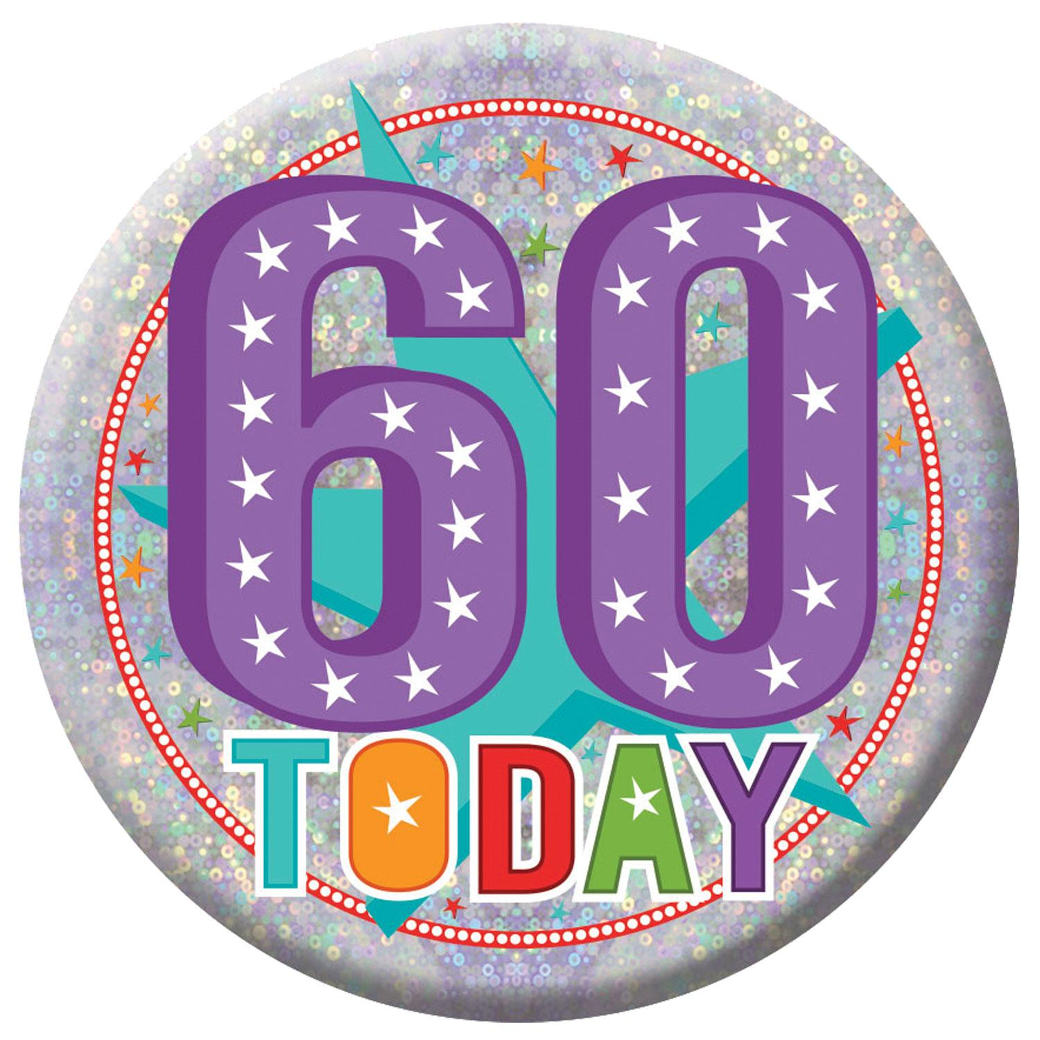 Holographic Badge 60th Birthday