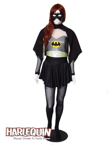 Batgirl Style Hire Costume Grey