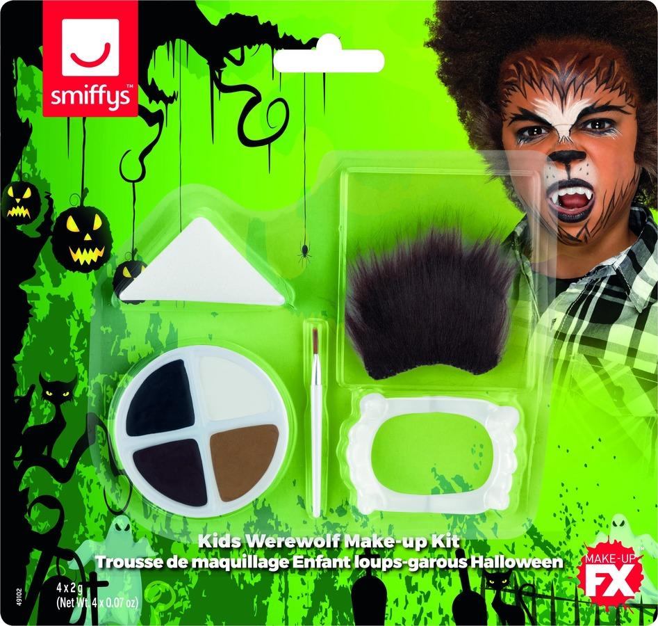 Kids Halloween Werewolf Make Up Kit