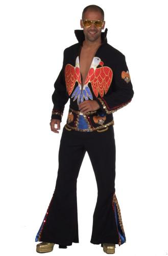 1970s Elvis Black Hire Costume
