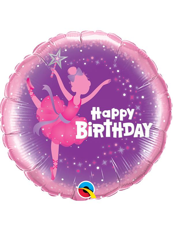 Foil Balloon Birthday Ballerina
