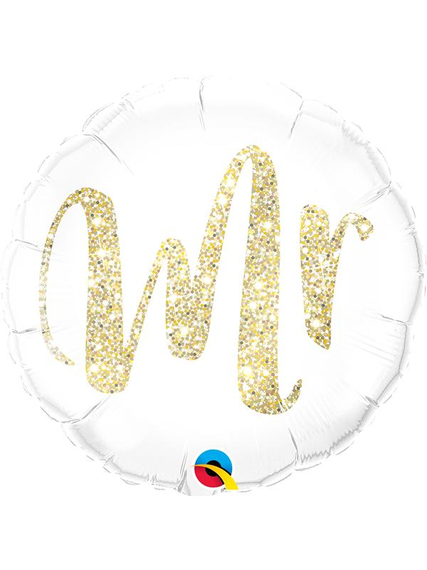 Foil Balloon Mr. Glitter Gold