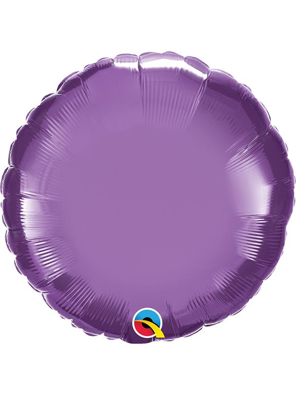 Foil Balloon Round Chrome Purple