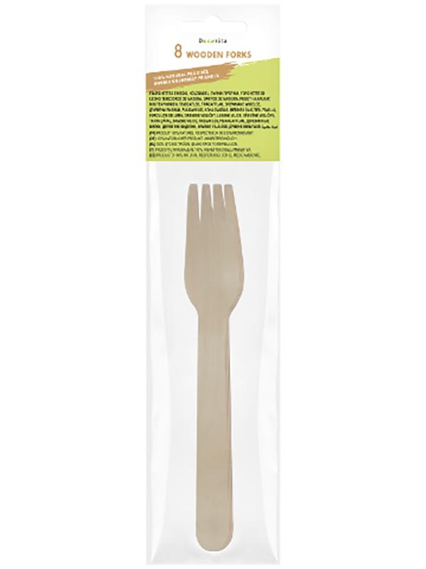 Wooden Forks Pack of 8