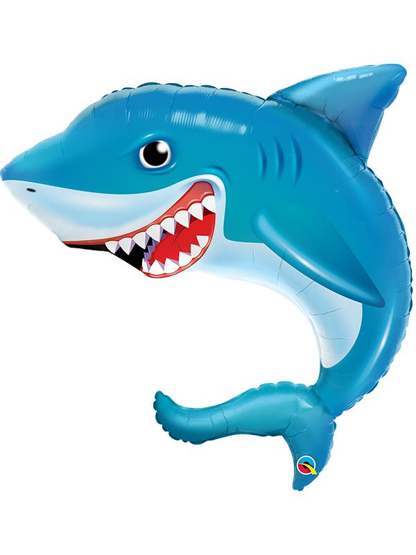 Foil Balloon Smiling Shark