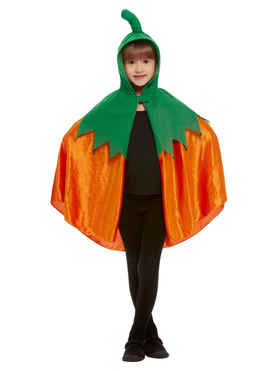 Pumpkin Hooded Cape Orange