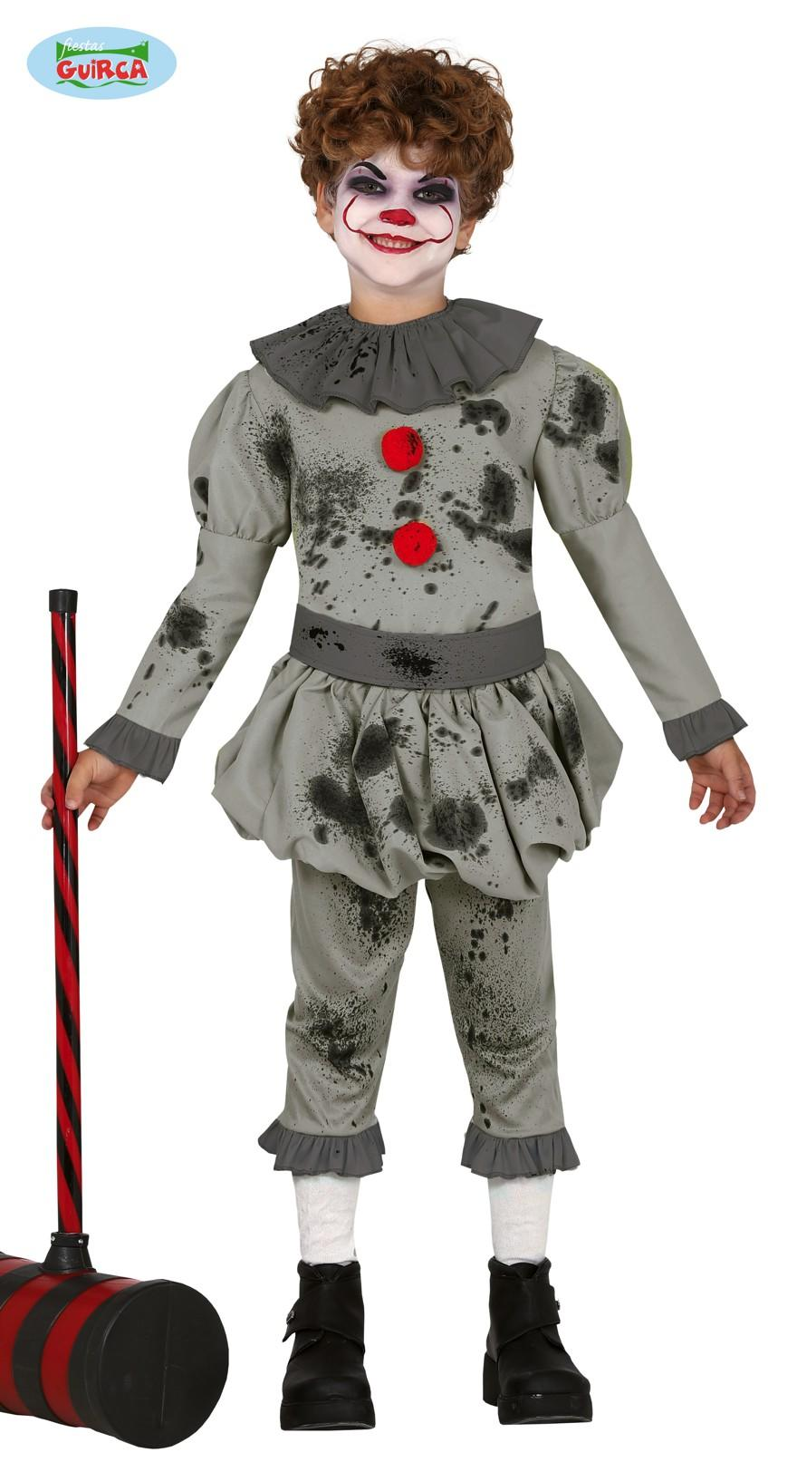Kids Horror Clown Boy Costume
