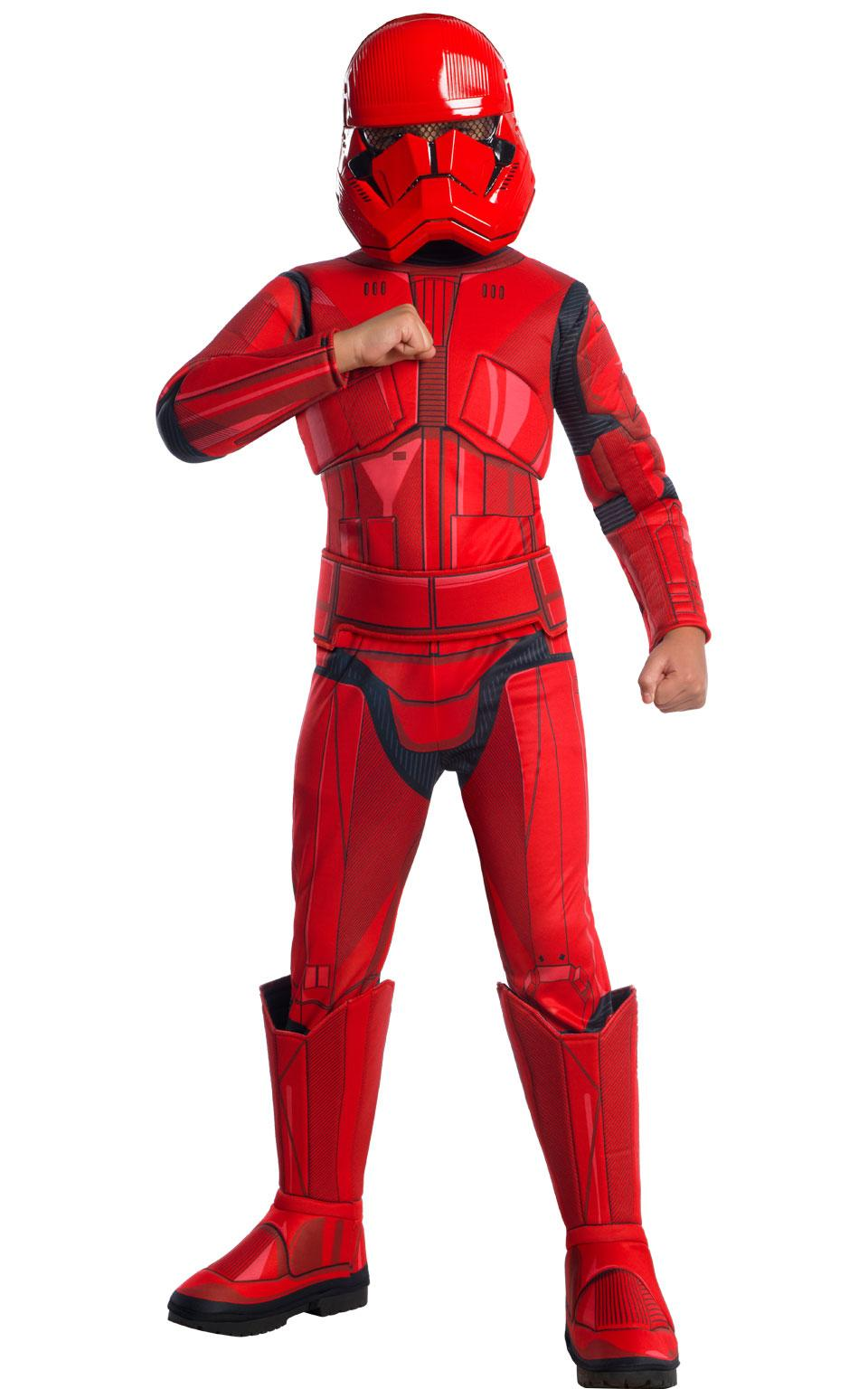 Kids Deluxe Red Stormtrooper Costume