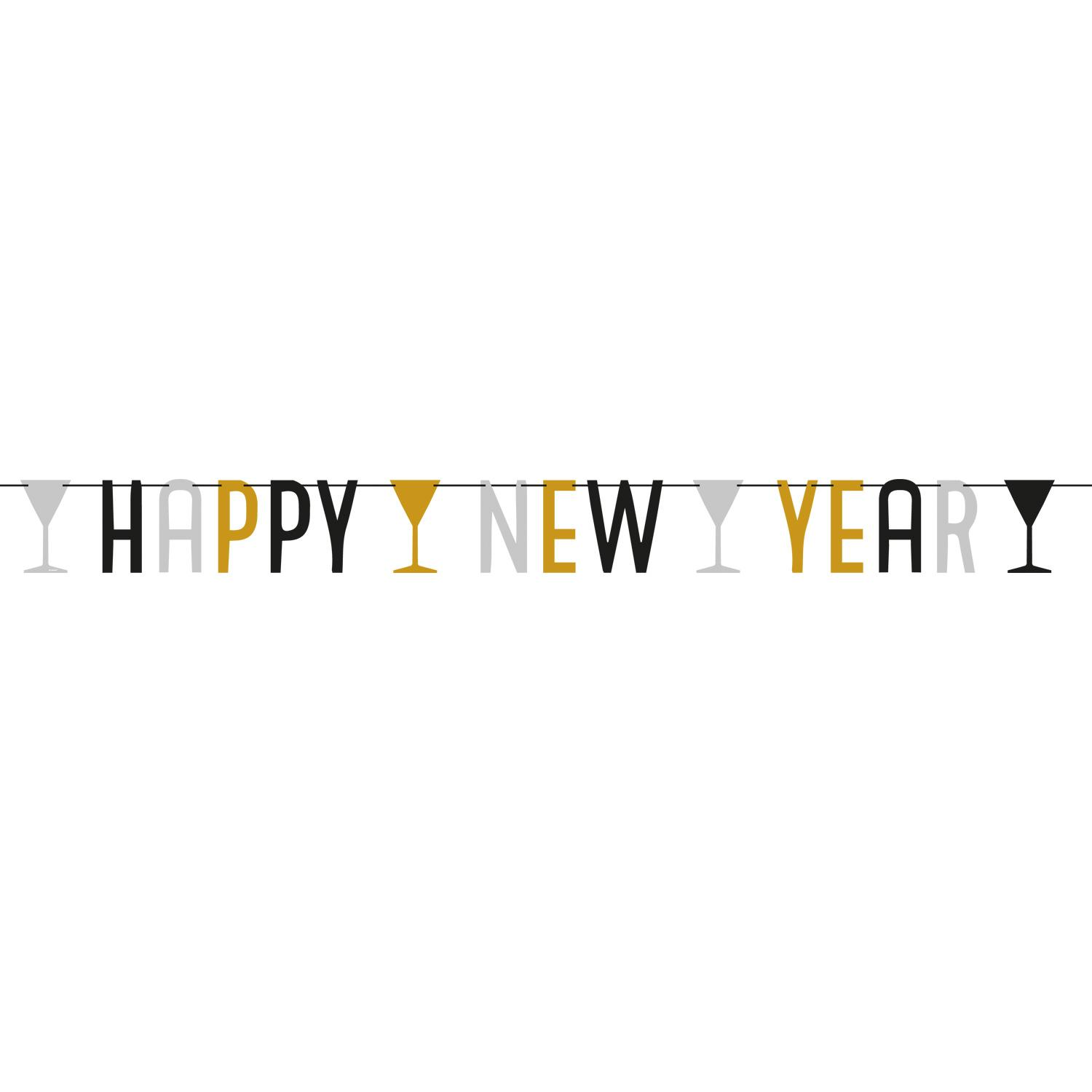 Happy New Year Letter Banner