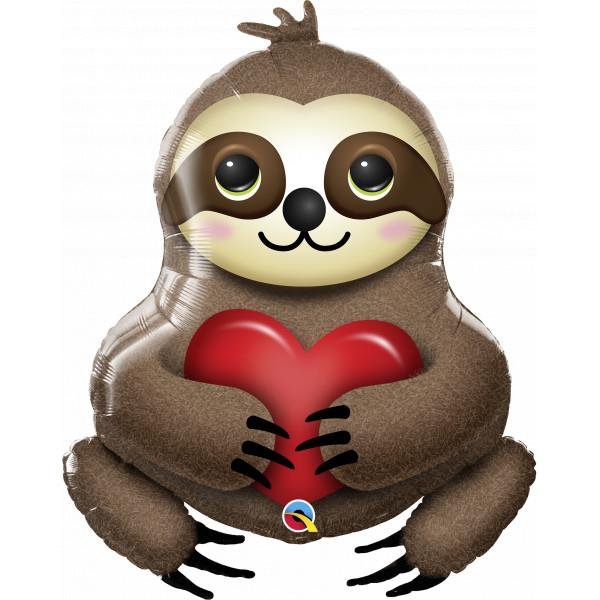 Foil Balloon Loveable Sloth