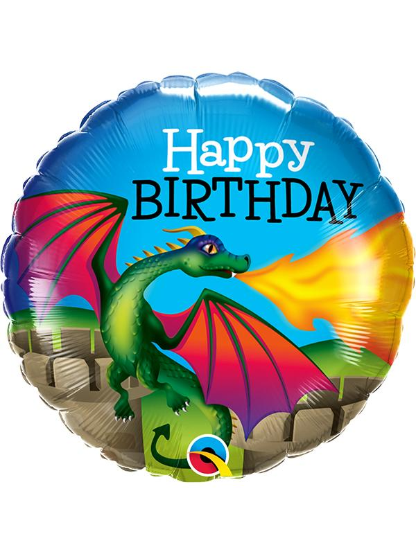 Foil Balloon Birthday Dragon