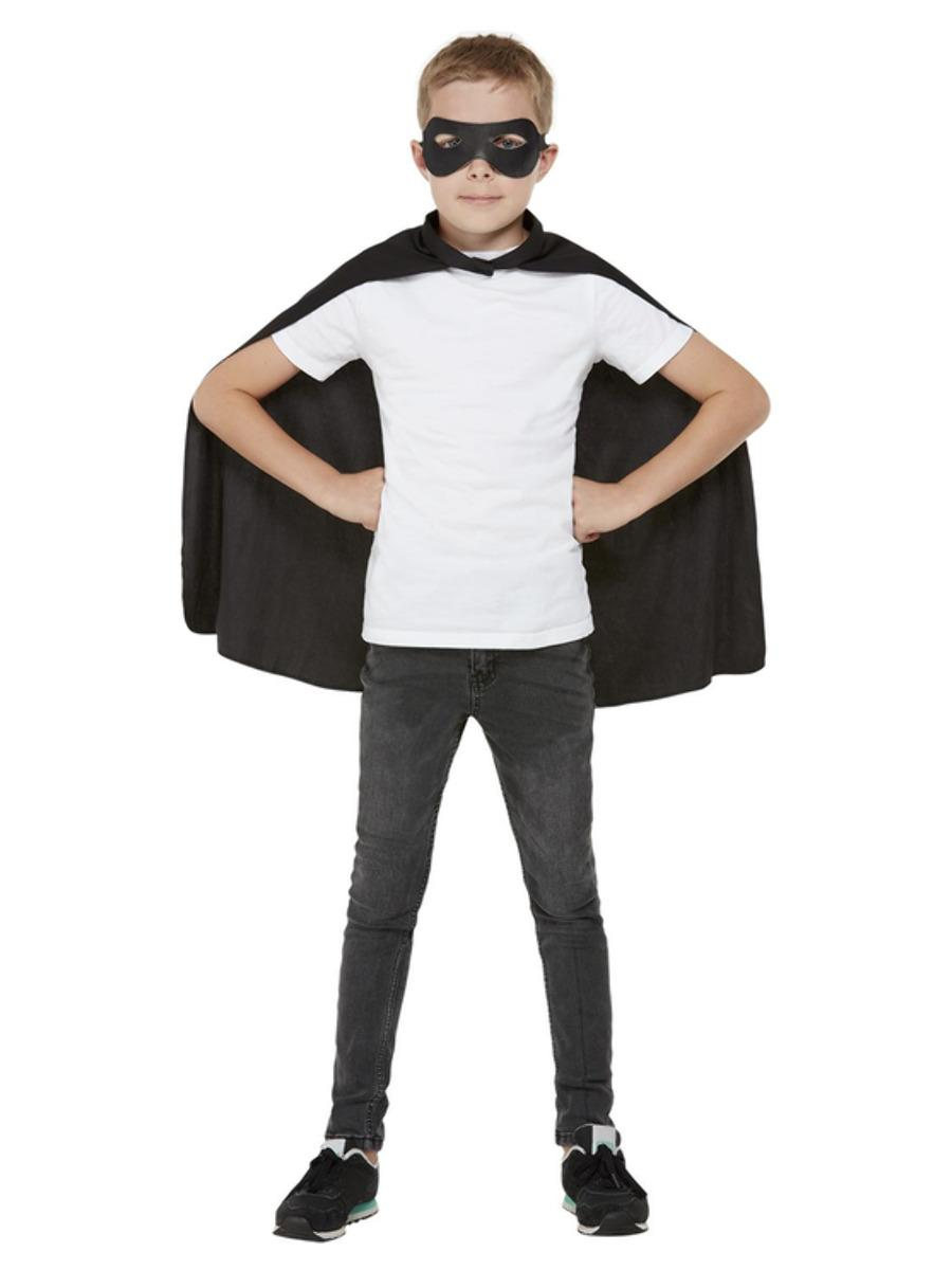 Kids Cape Black with Eye mask