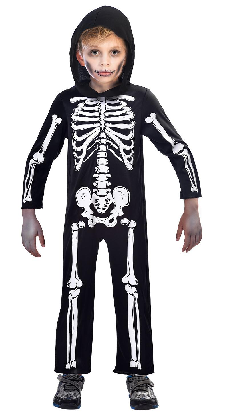 Kids Skeleton Jumpsuit Costume