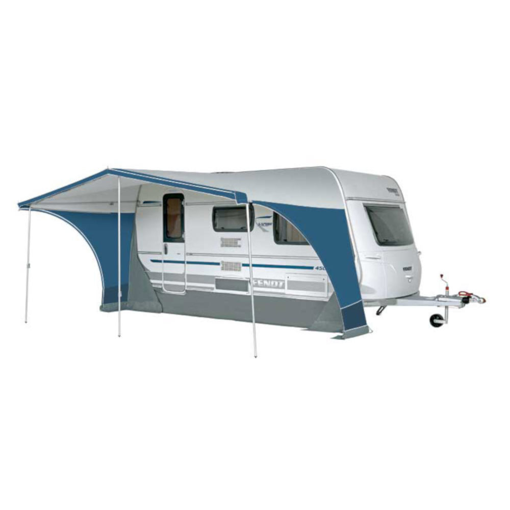 doream caravan awning sun canopy multi nova front and side panel removed
