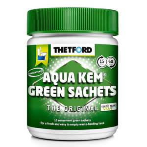 thetford aqua kem green sachets for caravan waste holing tanks