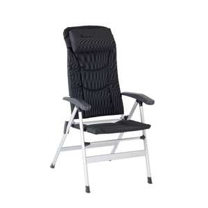 TC180187 - isabella thor reclining folding camping chair dark grey
