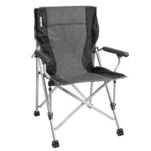 brunner raptor camping chair black grey