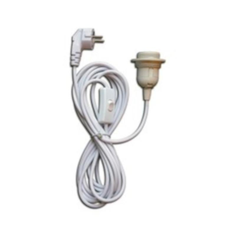TC0143 isabella awning lamp socket 3 phase cord and switch