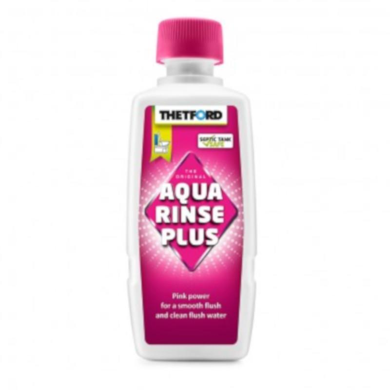thetford pink aqua rinse plus for chemical toilet flush tank 400ml