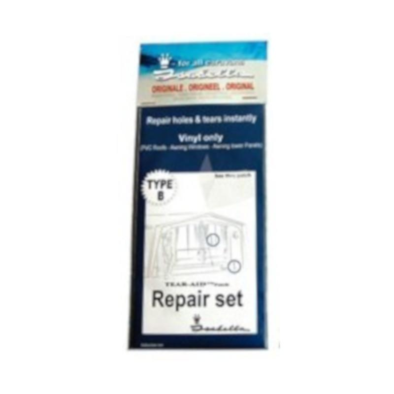 isabella awning repair set B - vinyl only PVC roofs, windows, lower panels