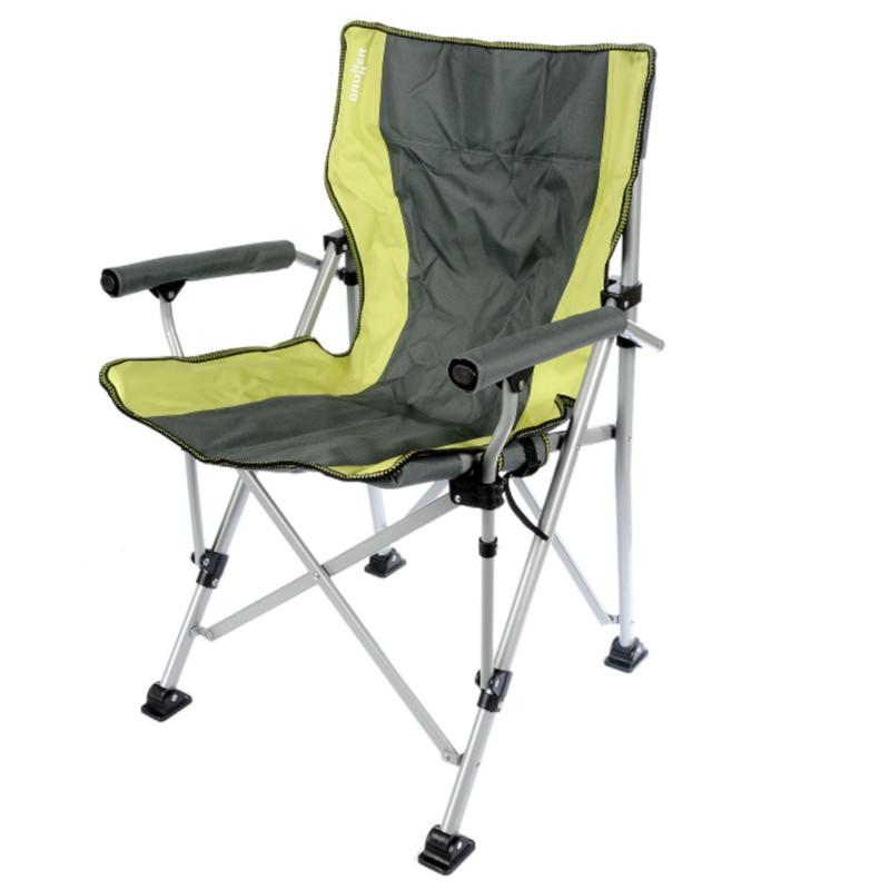 brunner raptor camping chair lime green grey