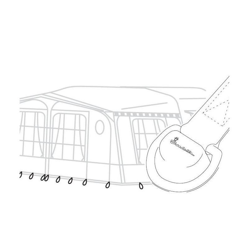 TC1293 isabella awning isaflex flexible peg fixings diagram