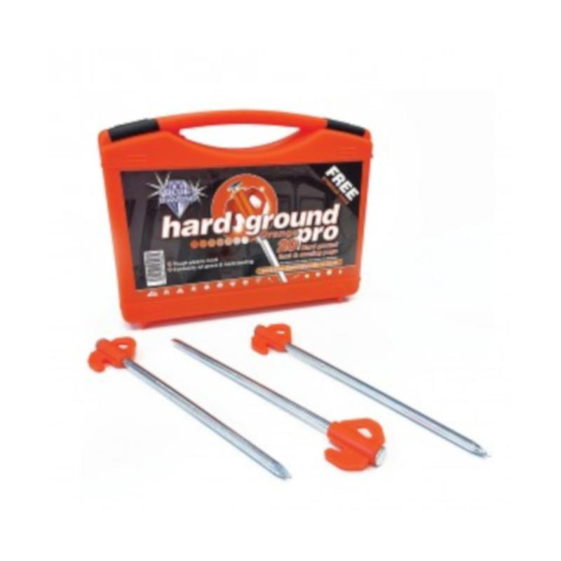 TC371 blue diamond orange hard ground awning pegs