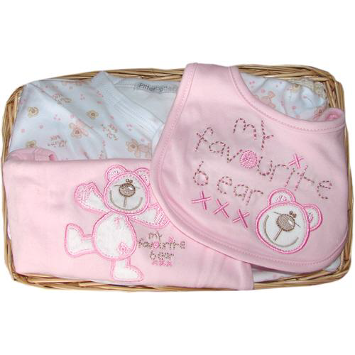 My Favourite Bear Gift Basket (pink)
