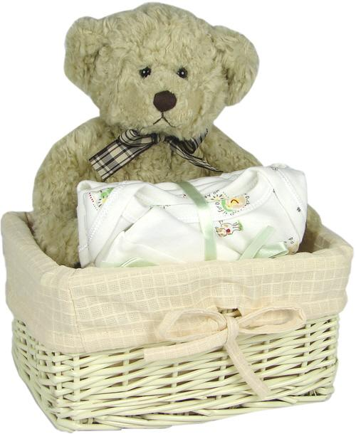 Hot Cross Buns Neutral Gift Basket