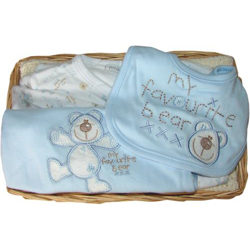 My Favorite Bear Gift Basket (blue)