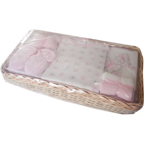 Pretty butterflies baby gift basket (pink)