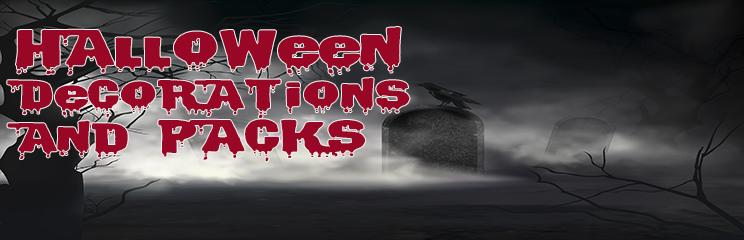 Halloween Decorations and Packs