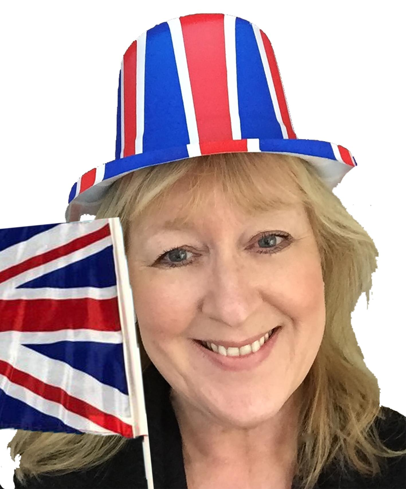 Union Jack Topper Hat and Flag